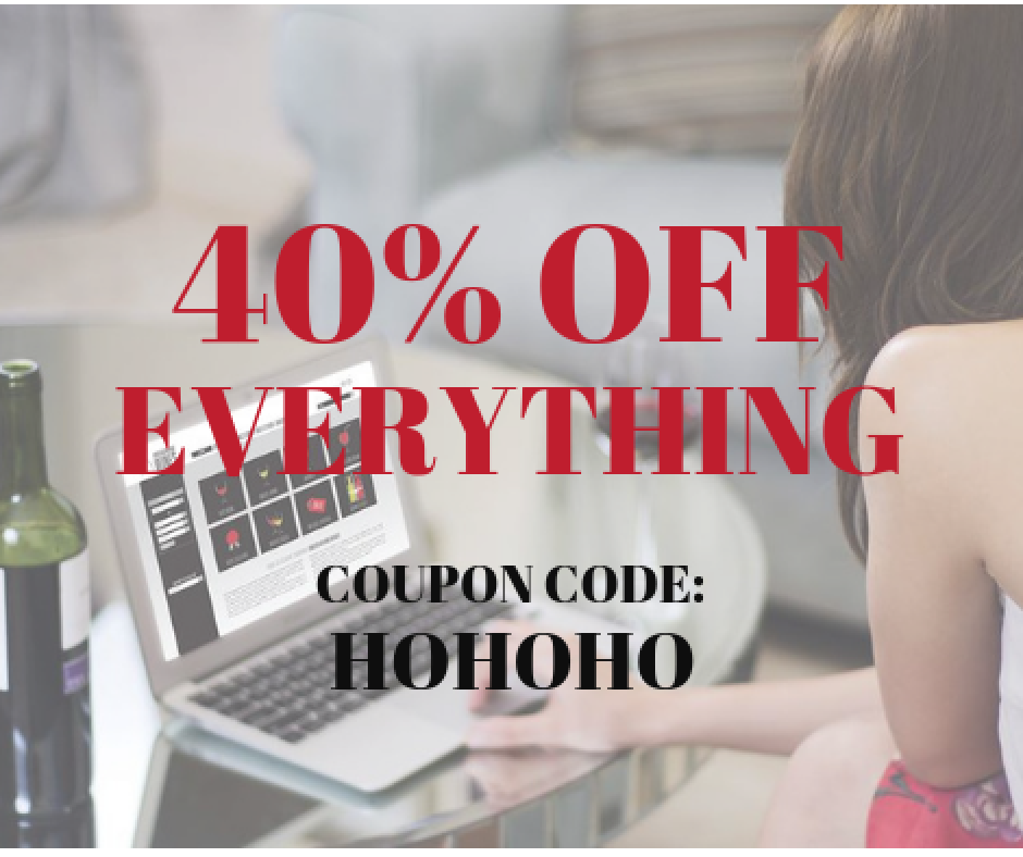 40% OFF EVERYTHING USING COUPON CODE HOHOHO